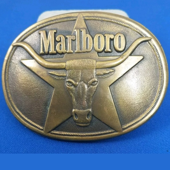 Philip Morris Inc Accessories 1987 Vintage Marlboro Longhorn Belt